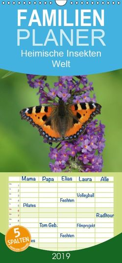 Heimische Insekten Welten – Familienplaner hoch (Wandkalender 2019 , 21 cm x 45 cm, hoch) von kattobello