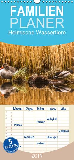Heimische Wassertiere – Familienplaner hoch (Wandkalender 2019 , 21 cm x 45 cm, hoch) von Potratz,  Andrea