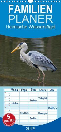 Heimische Wasservögel – Familienplaner hoch (Wandkalender 2019 , 21 cm x 45 cm, hoch) von kattobello