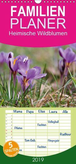 Heimische Wildblumen – Familienplaner hoch (Wandkalender 2019 , 21 cm x 45 cm, hoch) von LianeM