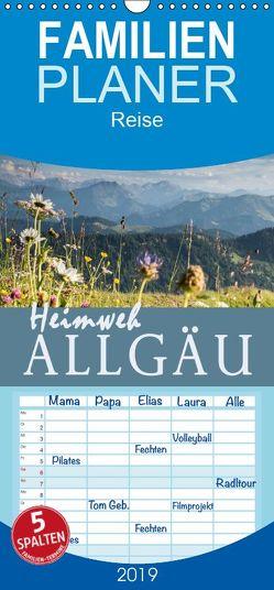 Heimweh Allgäu 2019 – Familienplaner hoch (Wandkalender 2019 , 21 cm x 45 cm, hoch) von Wandel,  Juliane