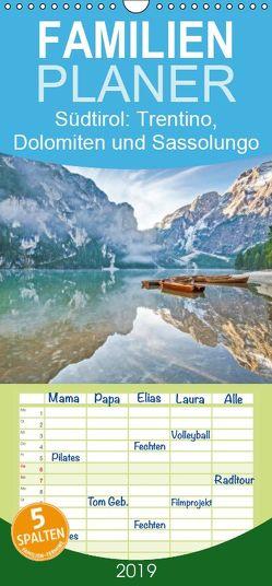 Heimweh nach Südtirol: Trentino, Dolomiten und Sassolungo – Familienplaner hoch (Wandkalender 2019 , 21 cm x 45 cm, hoch) von CALVENDO