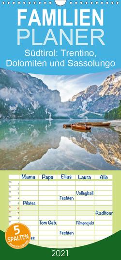 Heimweh nach Südtirol: Trentino, Dolomiten und Sassolungo – Familienplaner hoch (Wandkalender 2021 , 21 cm x 45 cm, hoch) von CALVENDO