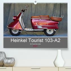 Heinkel Tourist 103-A2 Ein Freund fürs Leben (Premium, hochwertiger DIN A2 Wandkalender 2021, Kunstdruck in Hochglanz) von Laue,  Ingo