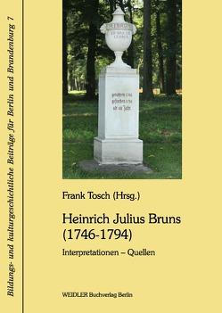 Heinrich Julius Bruns (1746-1794) von Tosch,  Frank