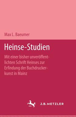 Heinse-Studien von Baeumer,  Max L