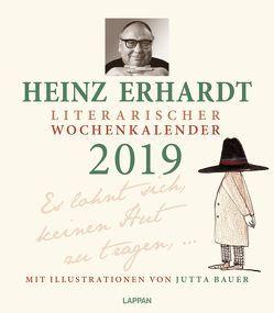 Heinz Erhardt – Literarischer Wochenkalender 2019 von Bauer,  Jutta, Erhardt,  Heinz