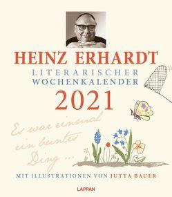 Heinz Erhardt – Literarischer Wochenkalender 2021 von Bauer,  Jutta, Erhardt,  Heinz