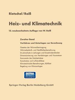 Heiz- und Klimatechnik von Protz,  Hubertus, Raiss,  Wilhelm, Rietschel,  Hermann