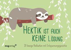 Hektik ist auch keine Lösung – 20 lässige Postkarten mit Entspannungsgarantie