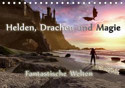 Helden, Drachen und Magie (Tischkalender 2019 DIN A5 quer) von Schröder,  Karsten