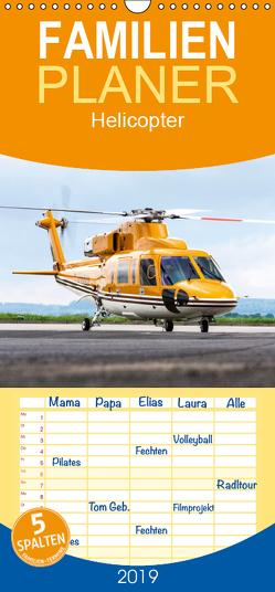 Helicopter – Familienplaner hoch (Wandkalender 2019 , 21 cm x 45 cm, hoch) von Neubert,  Jens