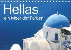 Hellas – ein Meer der Farben (Tischkalender 2019 DIN A5 quer) von Kraemer / diafimin,  Silvia