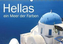 Hellas – ein Meer der Farben (Wandkalender 2019 DIN A3 quer) von Kraemer / diafimin,  Silvia