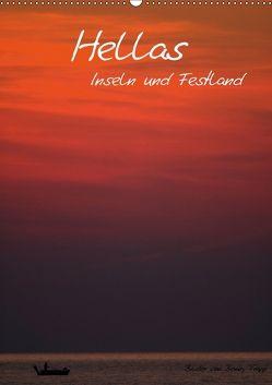 Hellas Inseln und Festland (Wandkalender 2018 DIN A2 hoch) von Trapp,  Benny