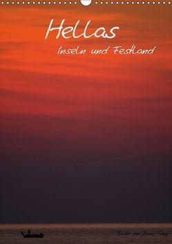 Hellas Inseln und Festland (Wandkalender 2018 DIN A3 hoch) von Trapp,  Benny