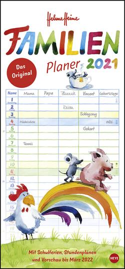 Helme Heine Familienplaner Kalender 2021 von Heine,  Helme, Heye