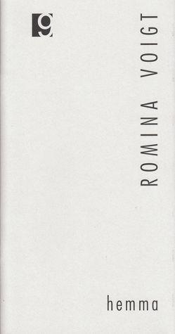 Jahresgabe der Literarischen Gesellschaft / hemma von Voigt,  Ramón, Voigt,  Romina