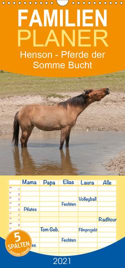 Henson – Pferde der Somme Bucht – Familienplaner hoch (Wandkalender 2021 , 21 cm x 45 cm, hoch) von Bölts,  Meike