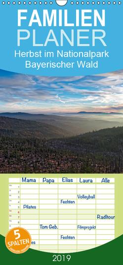 Herbst im Nationalpark Bayerischer Wald – Familienplaner hoch (Wandkalender 2019 <strong>21 cm x 45 cm</strong> hoch) von Enders,  Borg
