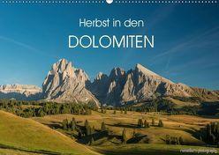 Herbst in den Dolomiten (Wandkalender 2019 DIN A2 quer) von photography,  romanburri