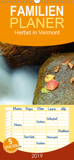 Herbst in Vermont – Familienplaner hoch (Wandkalender 2019 , 21 cm x 45 cm, hoch) von Enders,  Borg