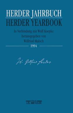 Herder Jahrbuch / Herder Yearbook 1994 von Koepke,  Wulf, Malsch,  Wilfried