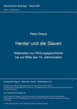 Herder und die Slaven von Drews,  Peter