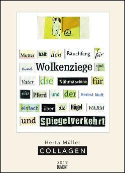 Herta Müller: Collagen 2019 – Poster-Kalender – Format 49,5 x 68,5 cm von DUMONT Kalenderverlag, Mueller,  Herta