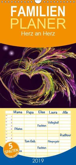 Herz an Herz – Familienplaner hoch (Wandkalender 2019 <strong>21 cm x 45 cm</strong> hoch) von Art-Motiva