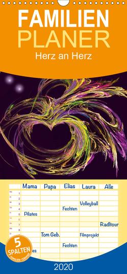 Herz an Herz – Familienplaner hoch (Wandkalender 2020 , 21 cm x 45 cm, hoch) von Art-Motiva