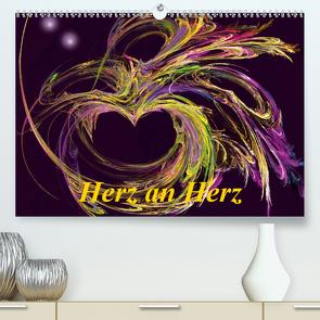 Herz an Herz (Premium, hochwertiger DIN A2 Wandkalender 2021, Kunstdruck in Hochglanz) von Art-Motiva