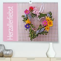 Herzallerliebst (Premium, hochwertiger DIN A2 Wandkalender 2021, Kunstdruck in Hochglanz) von B-B Müller,  Christine