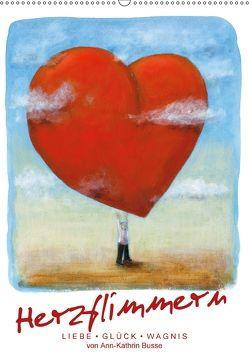 Herzflimmern (Wandkalender 2018 DIN A2 hoch) von Busse,  dieKleinert.de/Ann-Kathrin