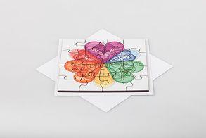Herzgeometrie Holz-Puzzle (mit Klappkarte und Kuvert) von Özen,  Ilknur
