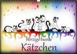 herzige bunte Kätzchen (Wandkalender 2018 DIN A3 quer) von Haberhauer,  Petra