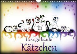 herzige bunte Kätzchen (Wandkalender 2018 DIN A4 quer) von Haberhauer,  Petra