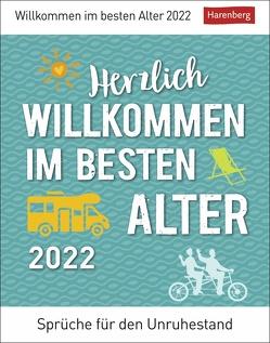 Herzlich willkommen im besten Alter Kalender 2022 von Braukmüller,  Beatrix, Harenberg