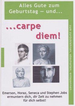 Carpe diem von Horaz, Lorenz,  Hugh, Seneca