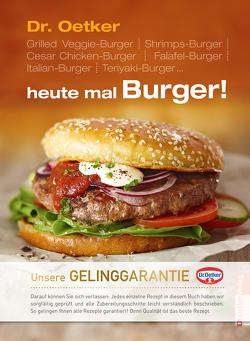 Heute mal Burger von Dr. Oetker
