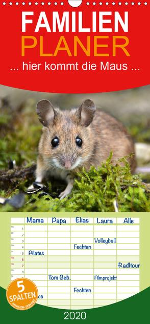 … hier kommt die Maus … – Familienplaner hoch (Wandkalender 2020 , 21 cm x 45 cm, hoch) von GUGIGEI