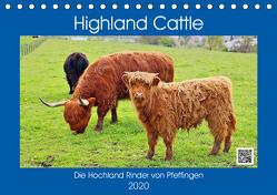 Highland Cattle, die Hochlandrinder aus Pfeffingen (Tischkalender 2020 DIN A5 quer) von Geiger,  Günther