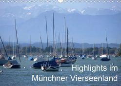 Highlights im Münchner Vierseenland (Wandkalender 2020 DIN A3 quer) von Weiss,  Anna-Christina