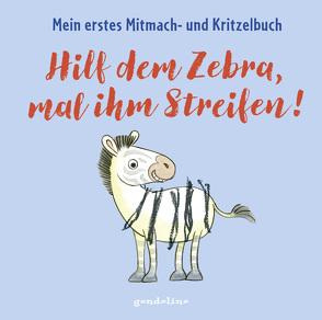Hilf dem Zebra, mal ihm Streifen! Mein erstes Mitmach- und Kritzelbuch für Kinder ab 2 Jahre: Zum Schütteln, Schaukeln, Pusten, Klopfen und selber Malen von Pautner,  Norbert