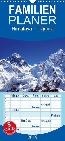 Himalaya – Träume – Familienplaner hoch (Wandkalender 2019 , 21 cm x 45 cm, hoch) von Prammer,  Andreas