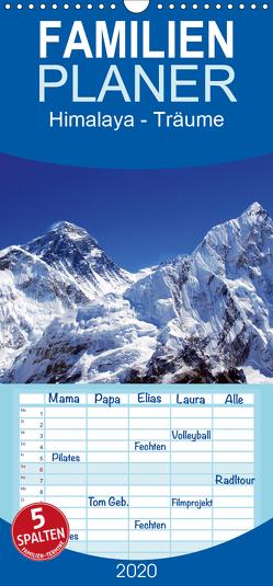Himalaya – Träume – Familienplaner hoch (Wandkalender 2020 , 21 cm x 45 cm, hoch) von Prammer,  Andreas