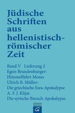 Himmelfahrt Moses. Die griechische Esra-Apokalypse. Die syrische Baruch-Apokalypse von Brandenburger,  Egon, Klijn,  A.F.J., Müller,  Ulrich B.