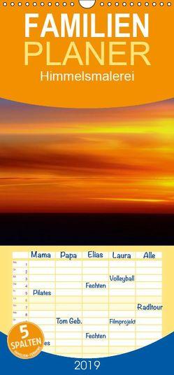 Himmelsmalerei – Familienplaner hoch (Wandkalender 2019 , 21 cm x 45 cm, hoch) von GUGIGEI