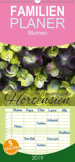 Himmlische Hortensien – Familienplaner hoch (Wandkalender 2019 , 21 cm x 45 cm, hoch) von Cross,  Martina