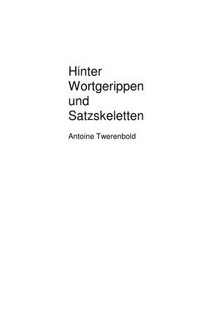 Hinter Wortgerippen und Satzskeletten von Twerenbold,  Antoine